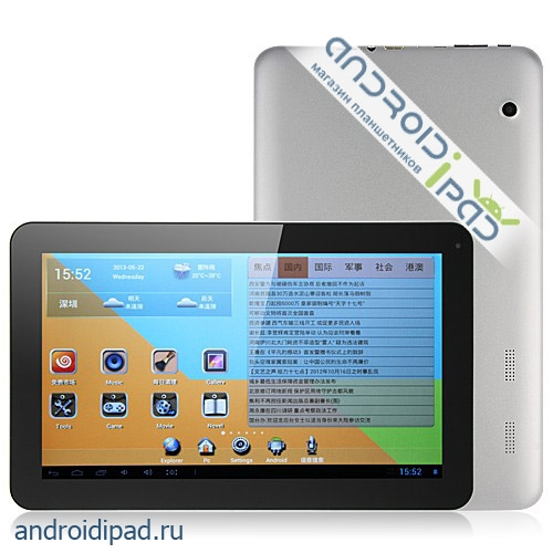 "диагональ 10"": Планшетный компьютер AIWA H857, 10"", Android 4.1, 1G/16G"